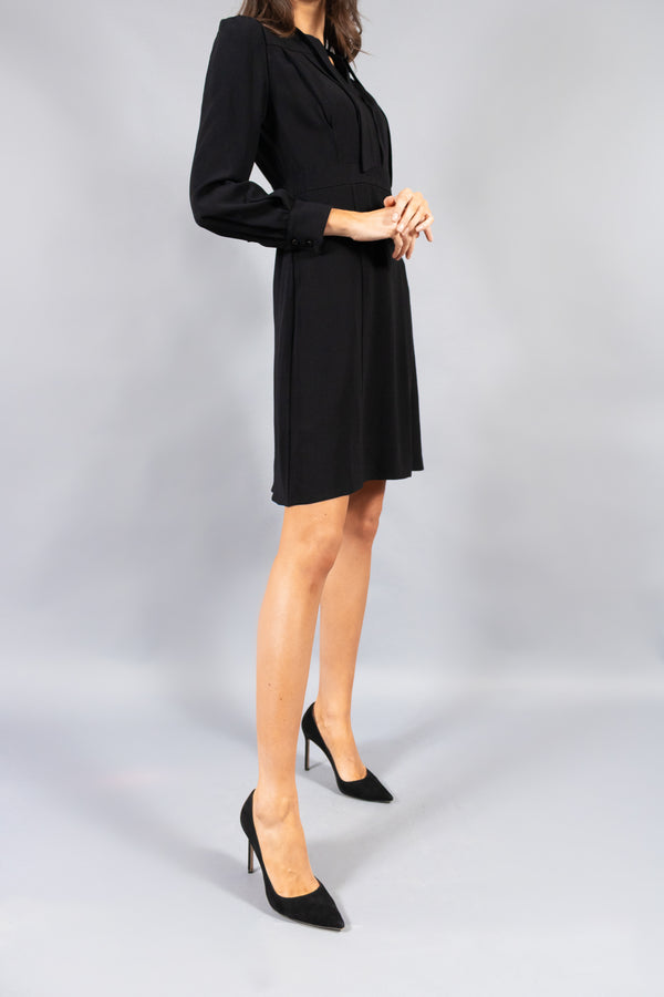 Prada Black Dress with Necktie