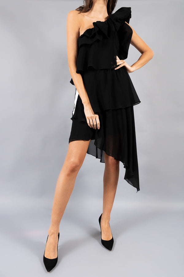 Givenchy One Shoulder Ruffle Dress ( Est. Retail $3,790)