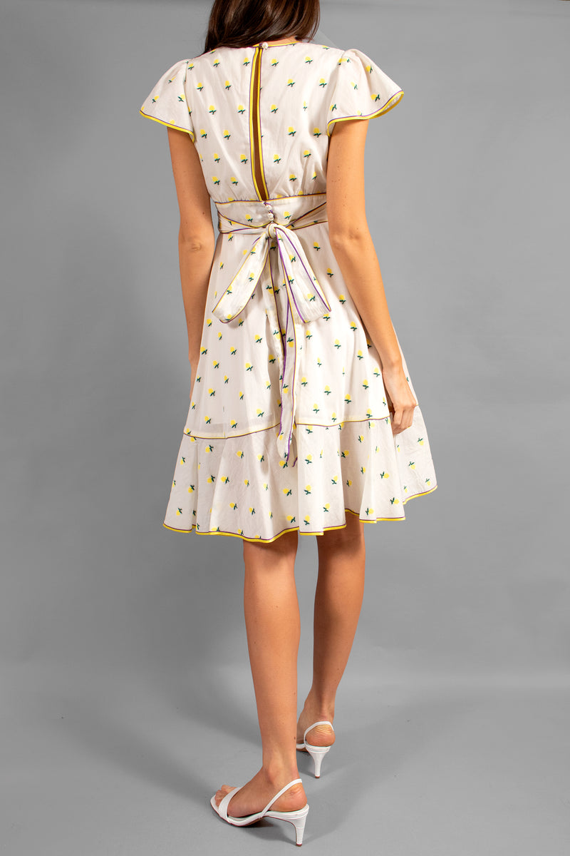Marc Jacobs Printed Voile Ruffle- Sleeve Dress (Est. Retail $495)