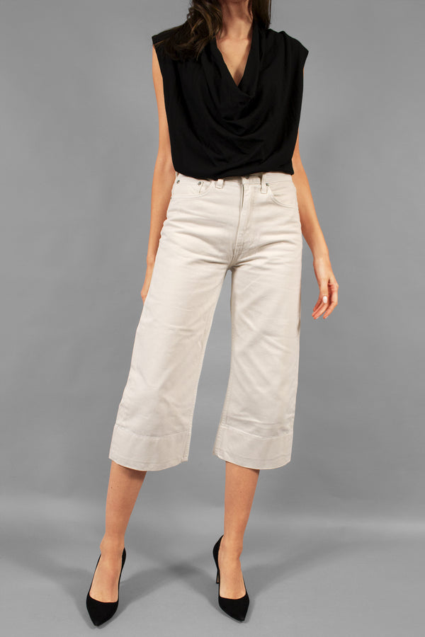 Brock Collection Ivory Jeans