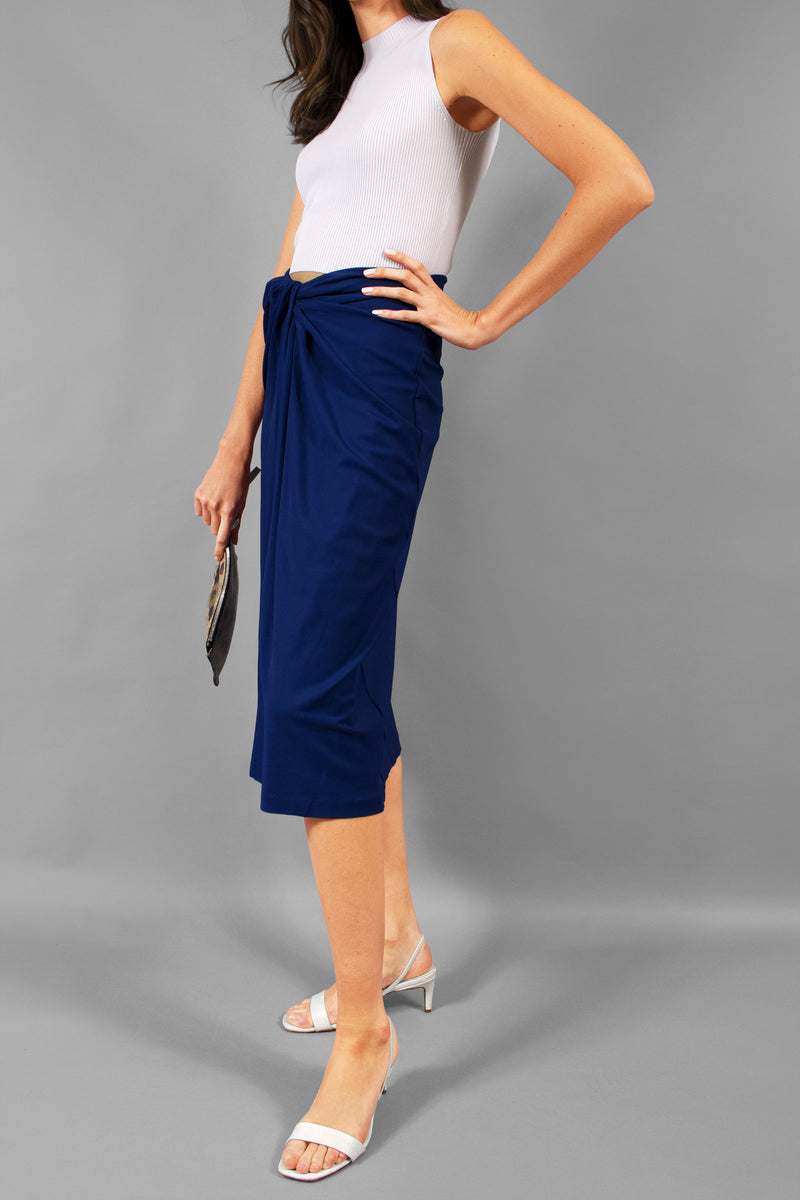 Rosetta Getty Twist-front Stretch-jersey Midi Skirt ( Est. Retail $890)