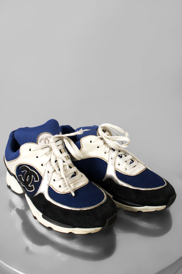 Chanel Calfskin & Mixed Fiber Sneaker (Est. Retail $950)