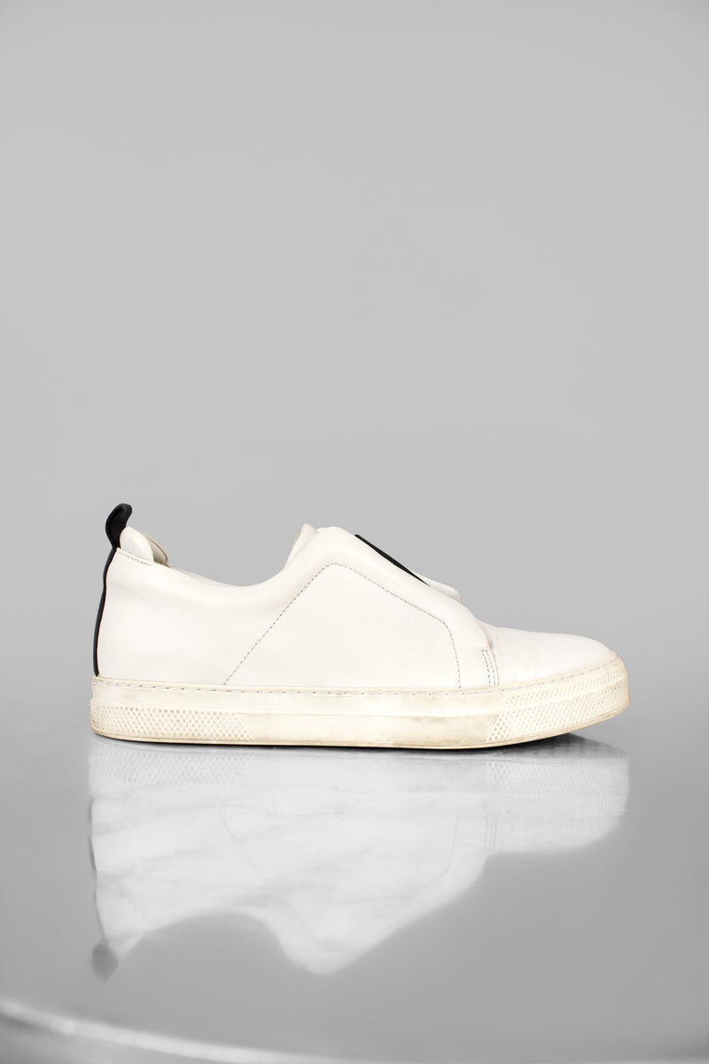 Pierre Hardy Leather Low Top Sneakers