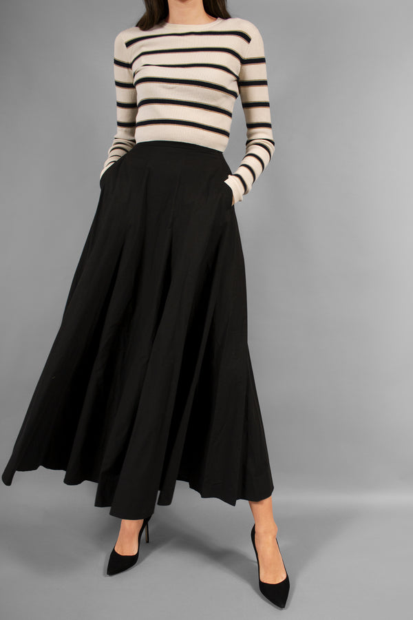 Bottega Veneta Black Cotton Skirt with Pockets