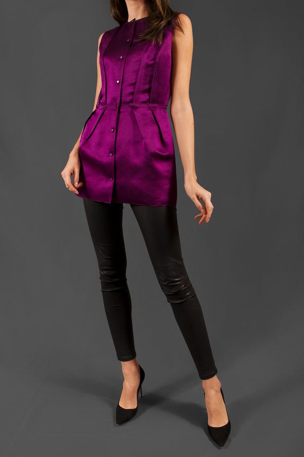 Lanvin Silk Button Front Top