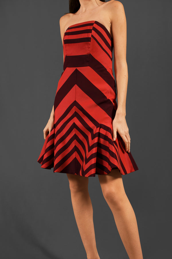 Lanvin Flounce Skirted Striped Dress | New with Tags (Est. Retail $4,560)