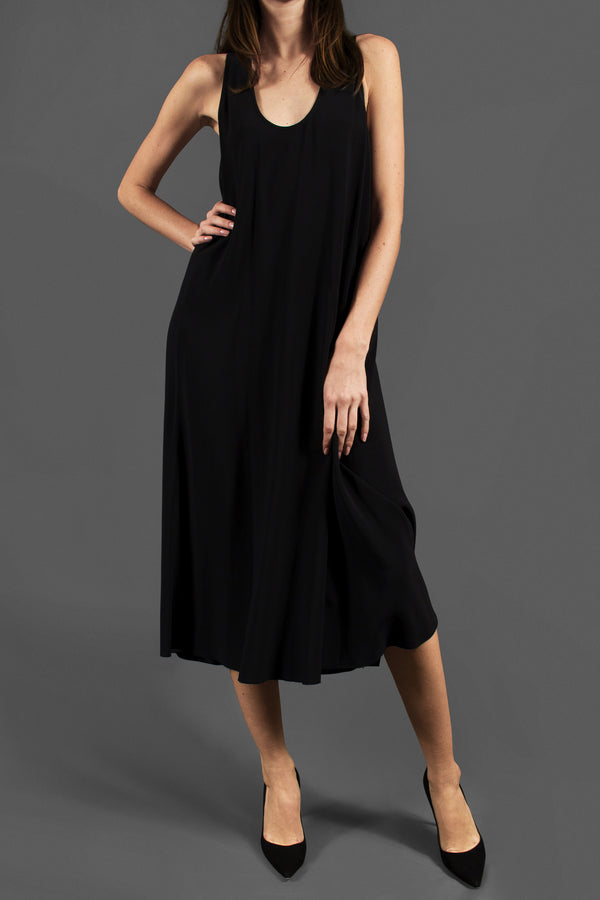 Helmut Lang Black Midi Dress