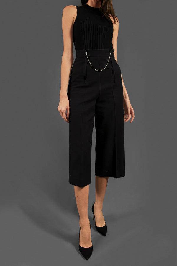 Alexander Wang Black Trousers with Ballchain Zipper (Est. Retail $795)