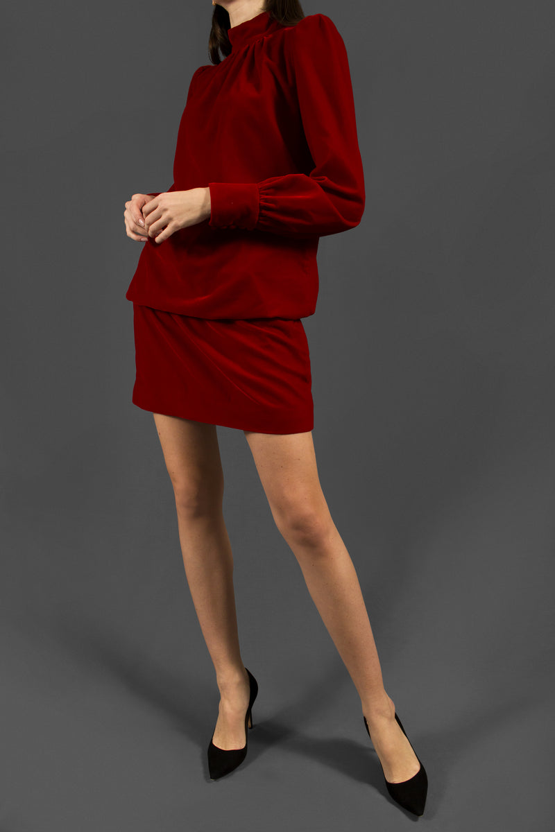 Marc Jacobs Velvet Bishop Sleeve Dress ( Est. retail $725)