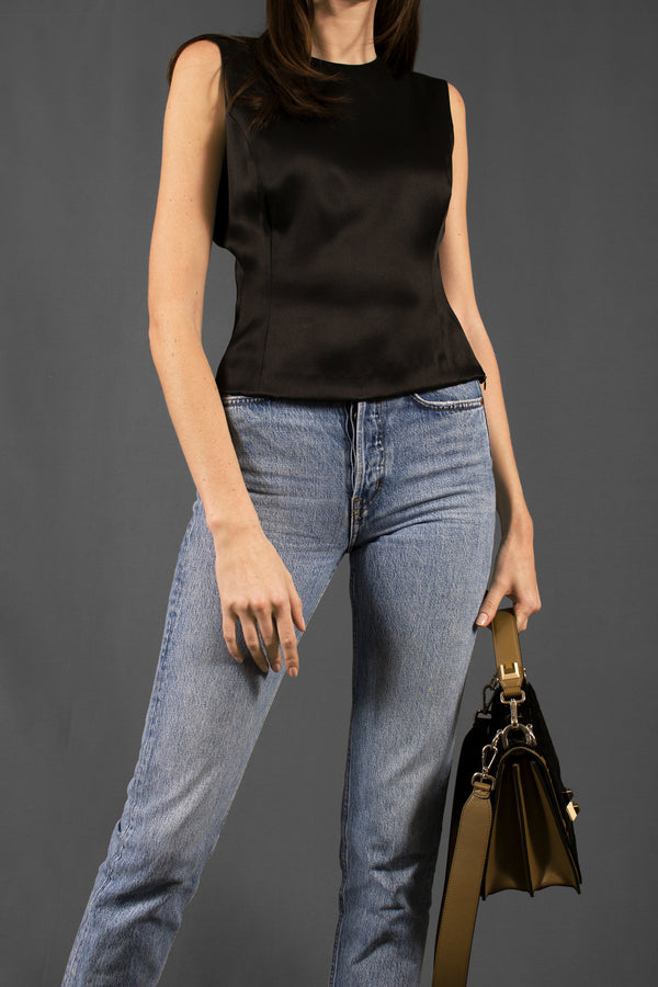 Akris Black Silk Top