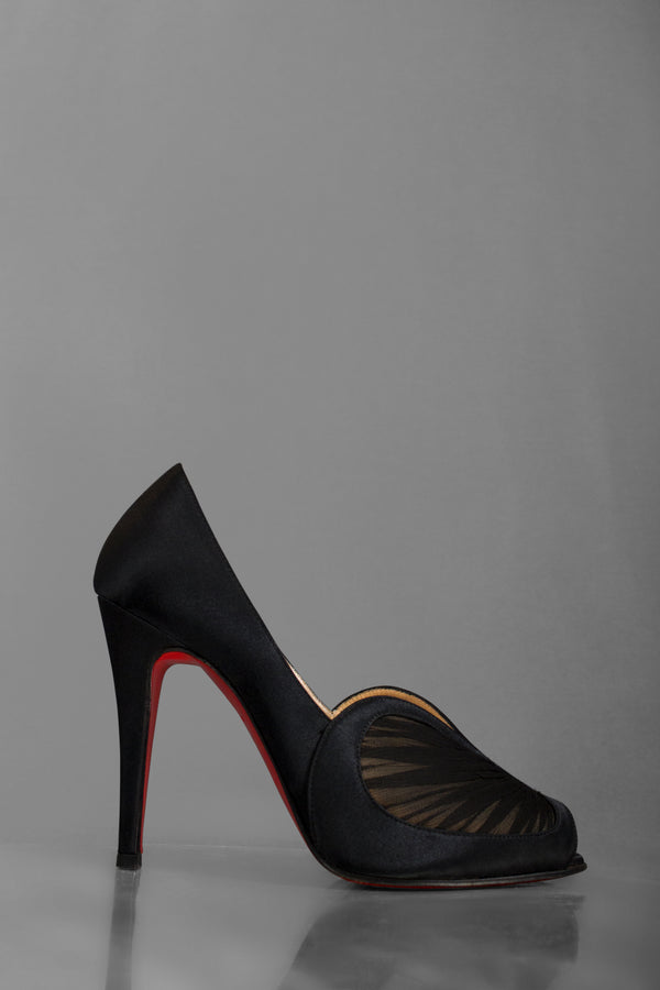 Christian Louboutin Papilipi Satin Pumps (Est. retail $845)