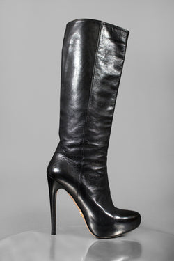 Prada Leather Platform Boot