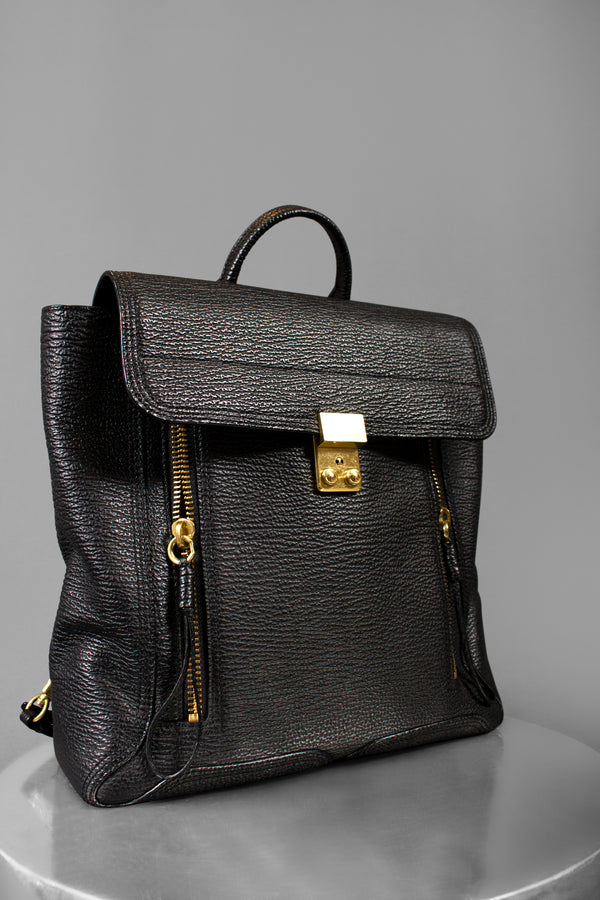 3.1 Phillip Lim Leather Pashli Backpack (Est. retail $900)