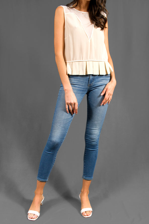 AG Light Wash Skinny Jeans