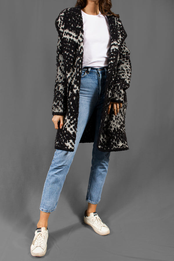 Diane von Furstenberg Printed Sweater Coat