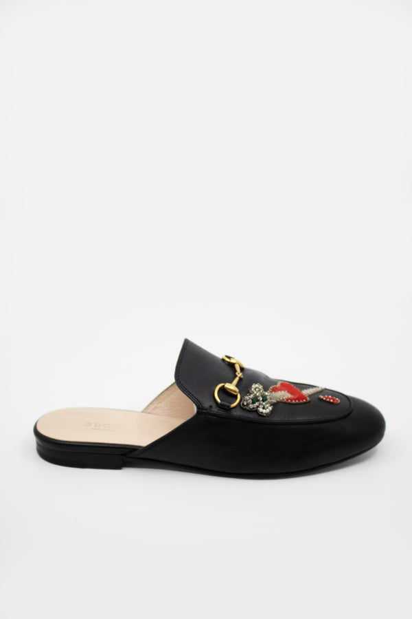 Gucci Applique Princeton Leather Loafers