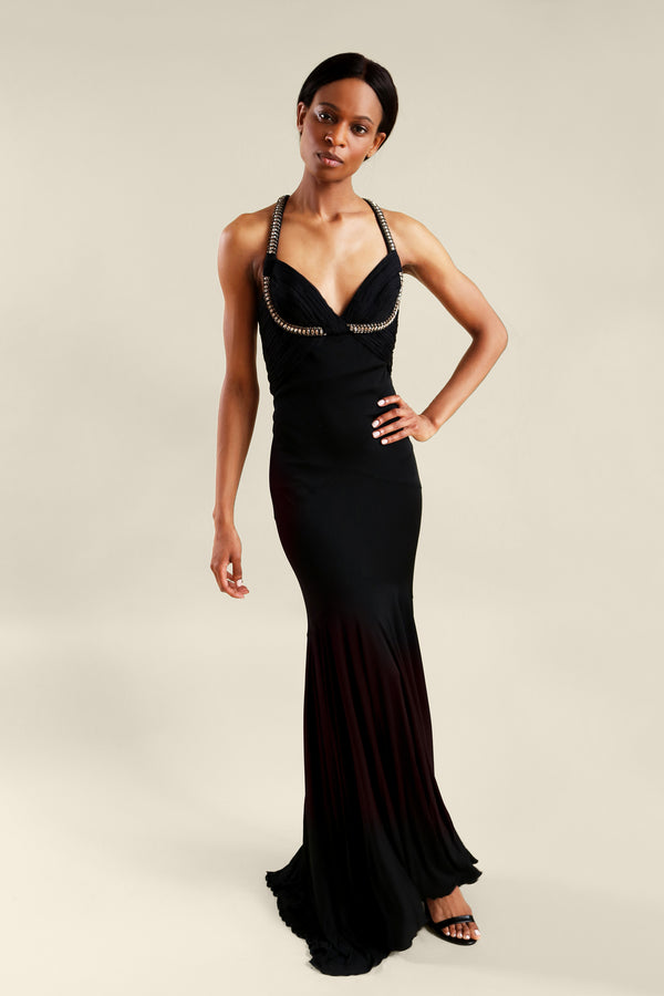 Roberto Cavalli Black Evening Gown