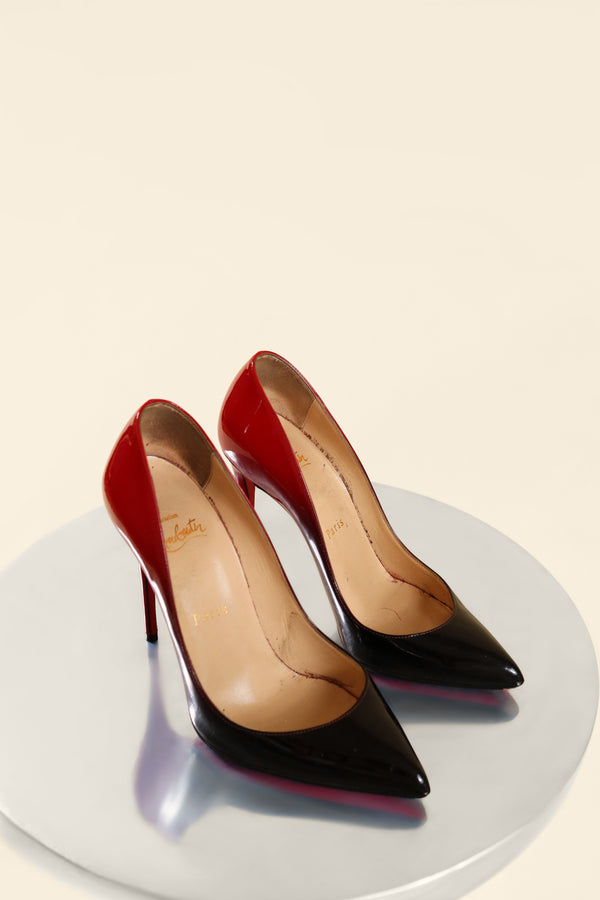 Christian Louboutin Kate 100 Patent Degrade (est. retail $745)