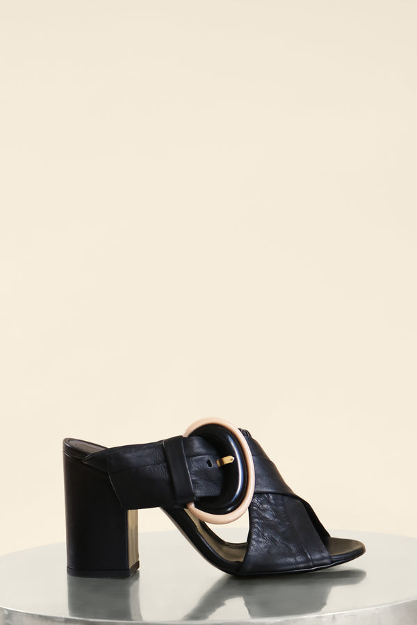 AGL Mule Sandal with Buckle (est. retail $400)