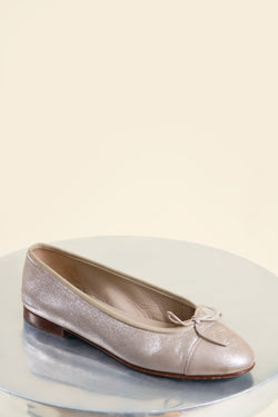 Chanel Metallic Ballet Flat
