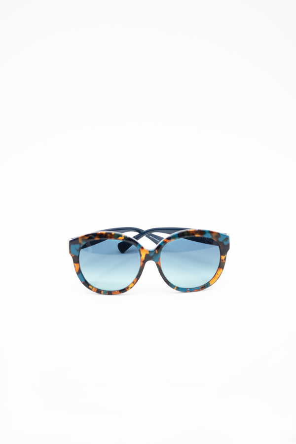 Coach Blue Tortoise Round Sunglasses