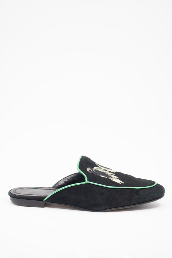 Maje Embroidered Mule