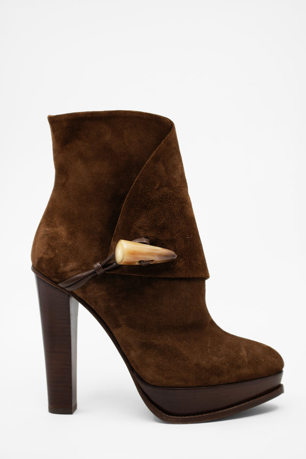 Ralph Lauren Purple Label Suede Platform Bootie