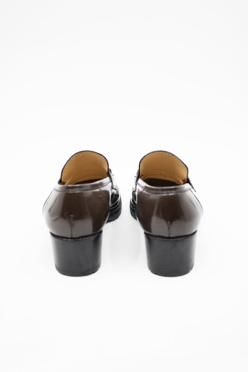 Gucci Platform Horse-Bit Leather Loafers