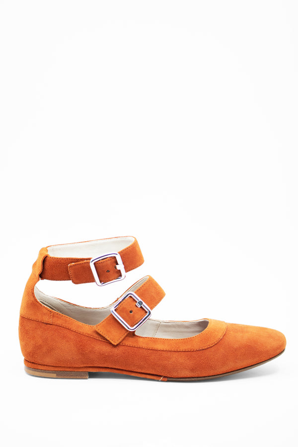 Creatures of Comfort Suede Mary Jane Buckle Flats