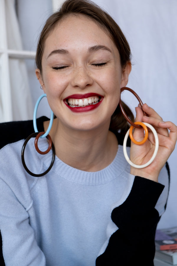 Cult Gaia 'Tria' Acrylic Hoop Earrings (Est. retail $109)