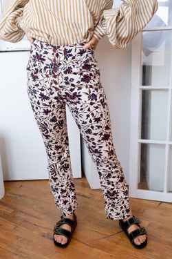 Ulla Johnson Floral Print Jeans