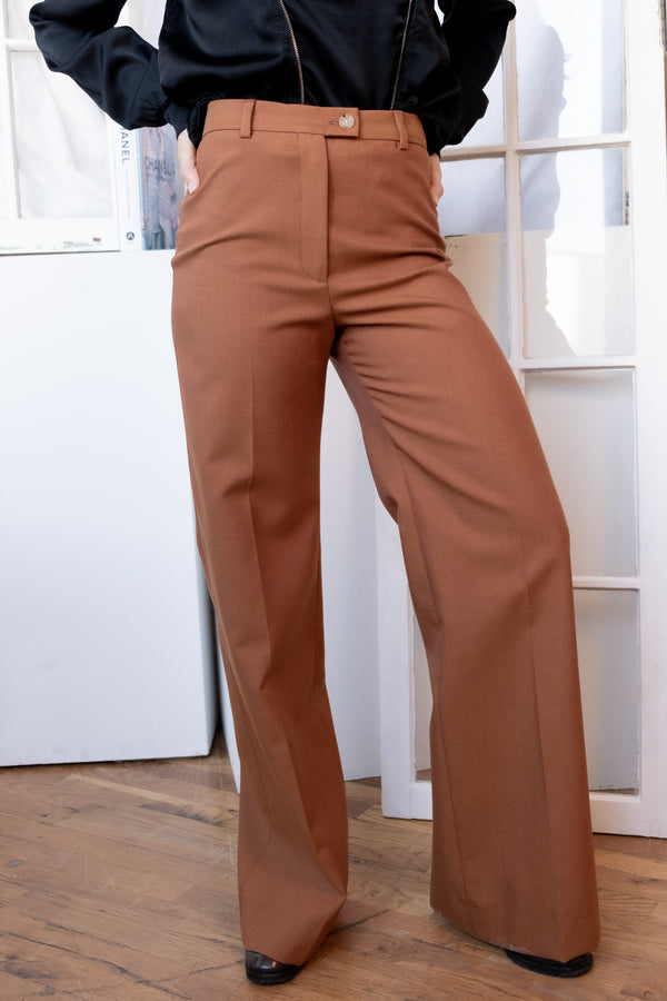 Acne Studios Wide Leg Wool Trousers