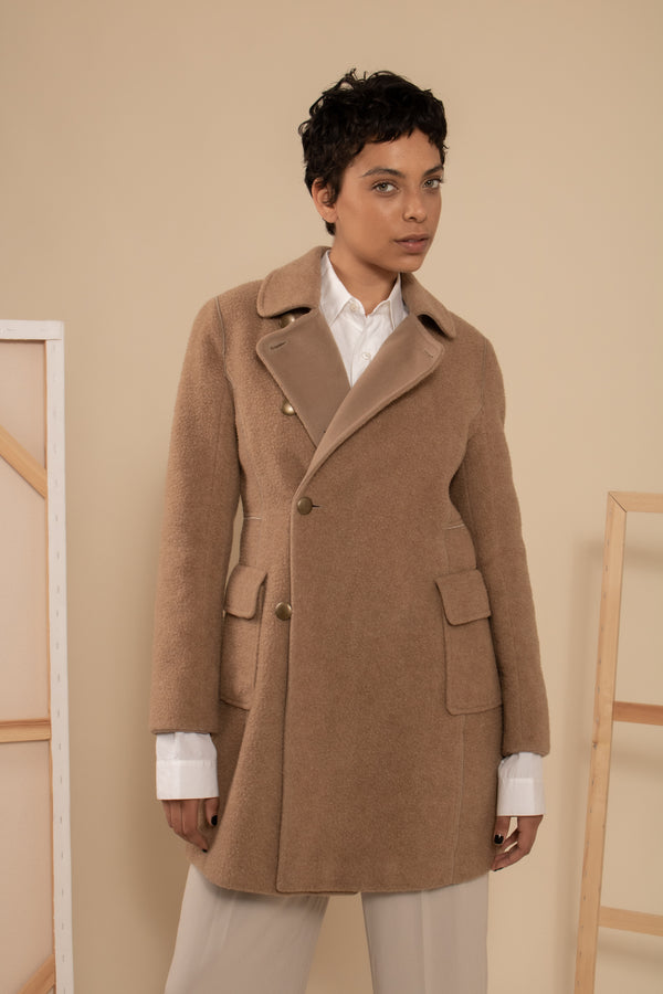 Akris Punto Camel Wool Coat
