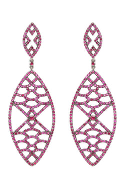 Deborah Pagani 'Maiko' 18K White Gold with Black Rhodium Finish and Ruby Earrings (est. retail $7,588)