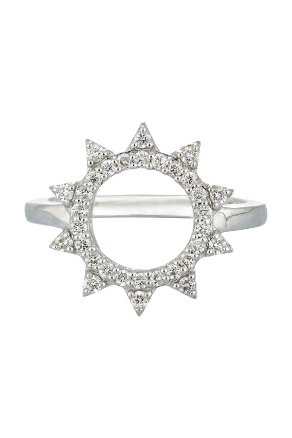 Deborah Pagani 'Morningstar' 18K White Gold and Diamond Ring (est. retail $2,600)
