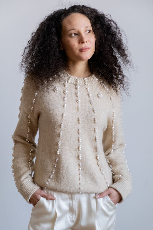 Maje Embellished Sweater