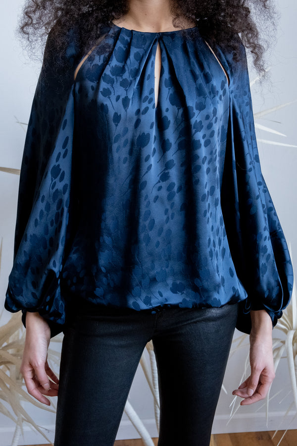 Zac Posen Printed Silk Blouse | New with tags (Est. retail $1,190)