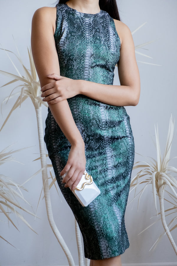 Zac Posen Snake Print Sheath Dress  | New with tags (Est. retail $1,390)