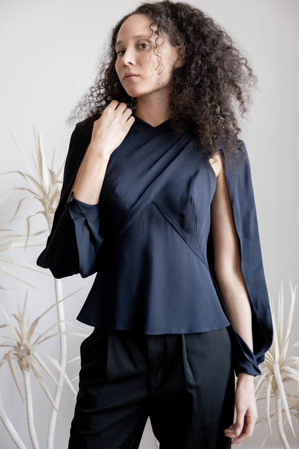 Zac Posen Cape-Effect Blouse | New with tags (Est. retail $950 )
