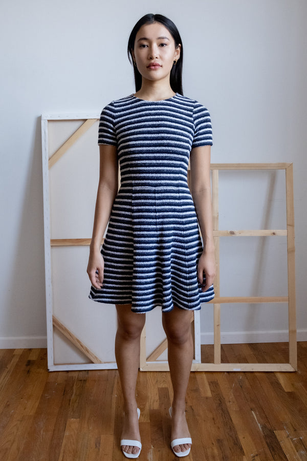 Theory Knit Striped Dress