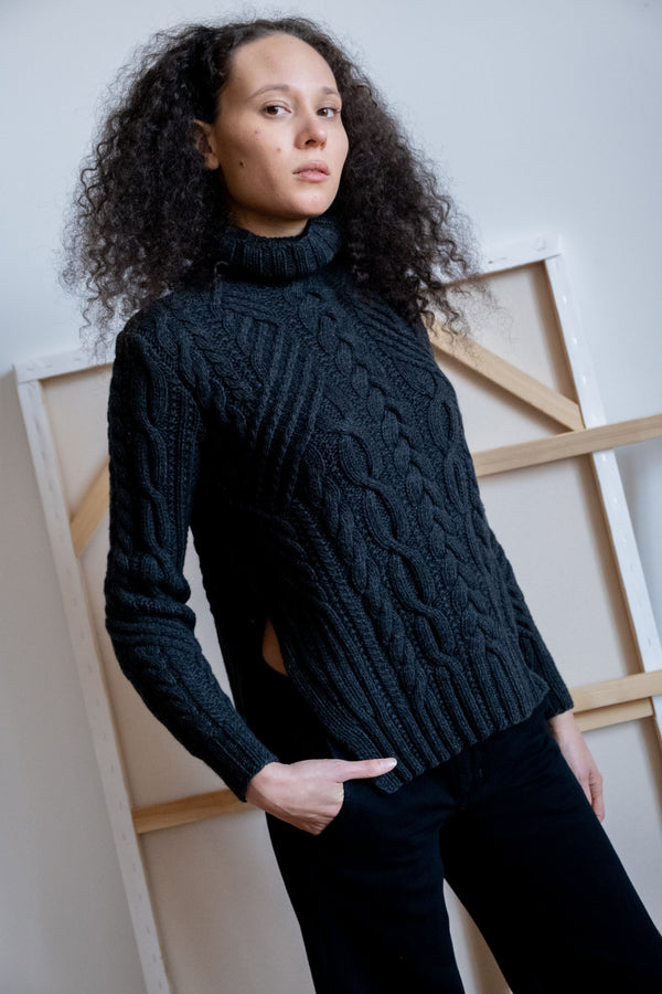 Zac Posen Cable Knit Turtleneck