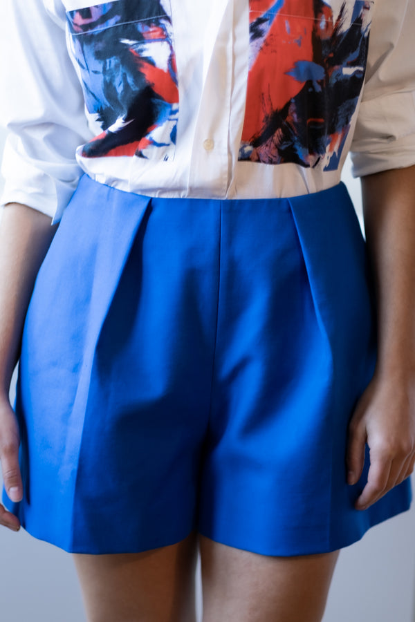 Carven Pleated Cotton Shorts