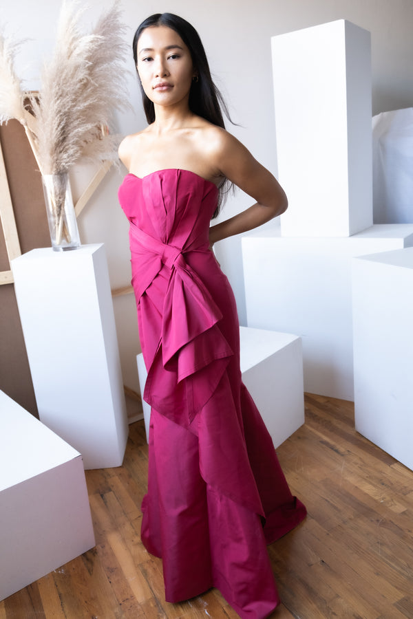 Carolina Herrera Silk Faille Gown