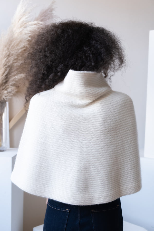 Ralph Lauren Cropped Merino Wool-Blend Cape