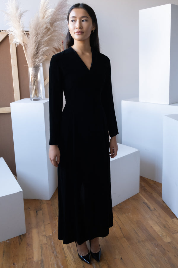 Jil Sander Velvet Long Dress
