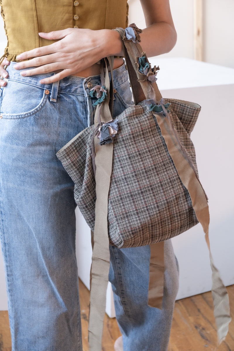 Marni Plaid Small Tote Bag (est. retail $450)