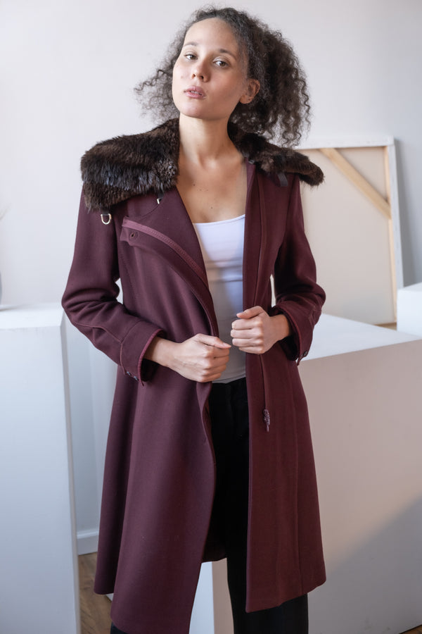 Genny Wool Coat With Fur Collar