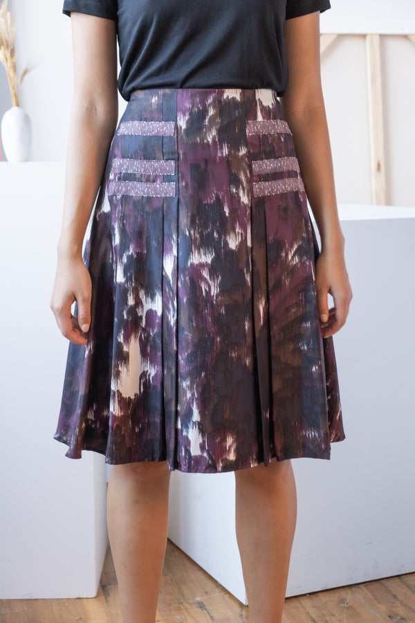Carolina Herrera Printed Silk Skirt