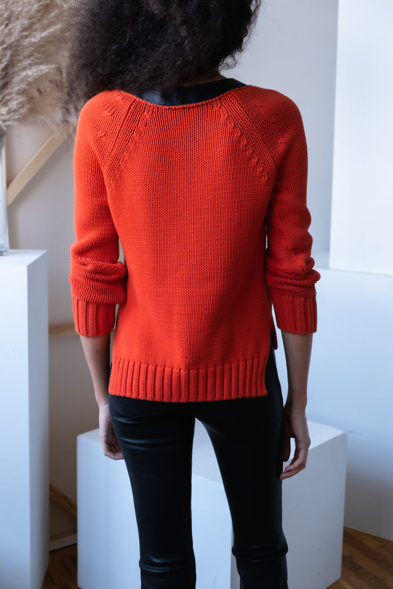 Sportmax Leather Detailed Sweater
