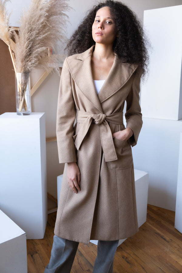 Carolina Herrera Wool and Angora Coat